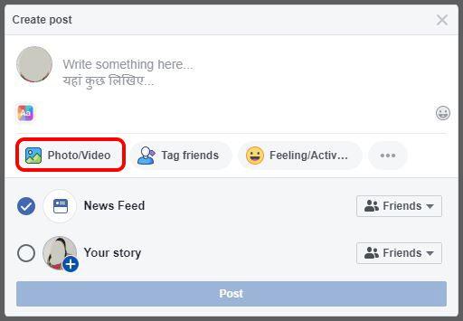 Go To Facebook Create Post