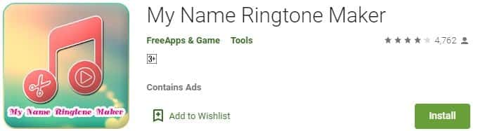 My Name Ringtone Maker FreeApps and Game
