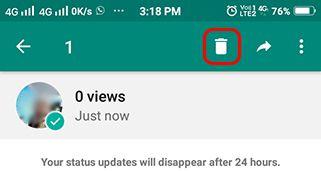 WhatsApp Status delete kaise kare