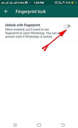 WhatsApp par Fingerprint Lock kaise lagaye