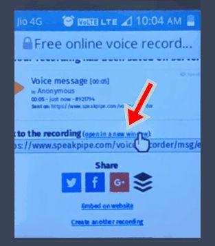 jio phone sound record