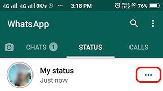 whatsapp status kaise hataye
