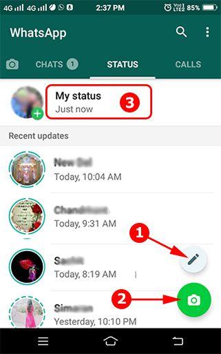 whatsapp status kaise lagaye