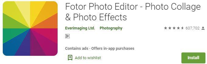 Fotor Photo Editor, photo sajane wala apps