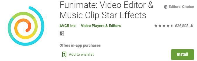 Funimate Video Editor Music Clip Star Effects