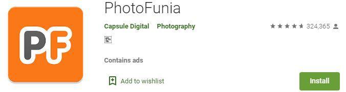 Photo funia best photo editor app