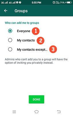 WhatsApp Groups me add hone se kaise bache