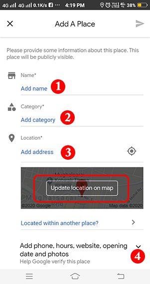 google map me apna naam address kaise dale