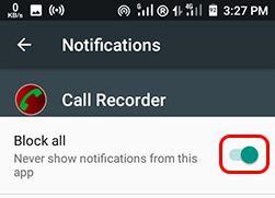 hidden call recorder app setting