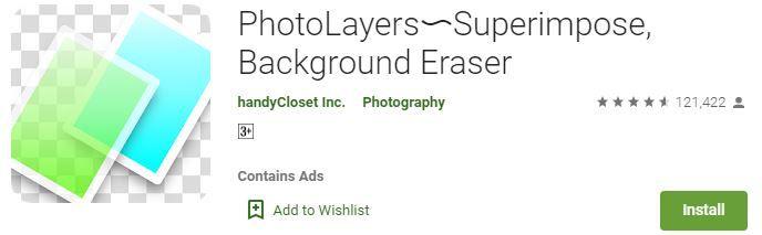 PhotoLayers Background Eraser App