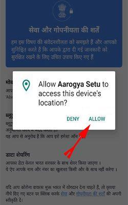 arogya-app-par-device-location-Allow-kare