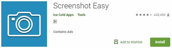 Screenshot Easy Android App