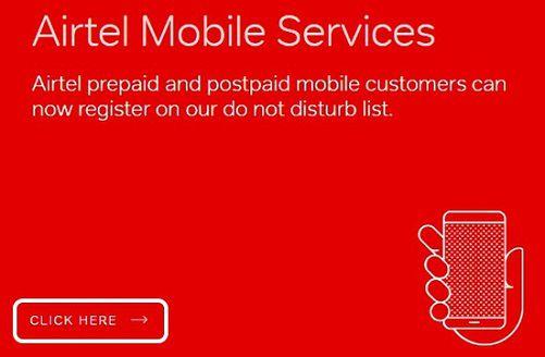 Airtel-do-not-disturb-service
