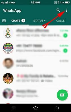 Whatsapp setting