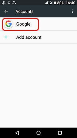 google account contact backup