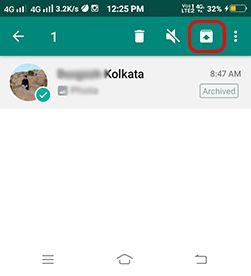 whatsapp secret chat unhide