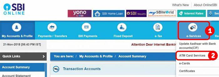 Online-SBI-ATM-PIN-Change