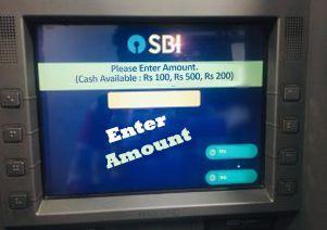 enter amount sbi atm