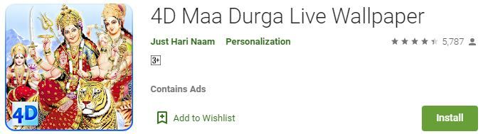4D Maa Durga Live Wallpaper