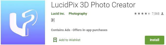 LucidPix 3D Photo Creator