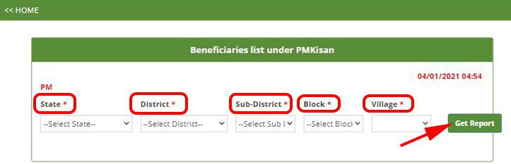 Beneficiary List Under PM Kisan