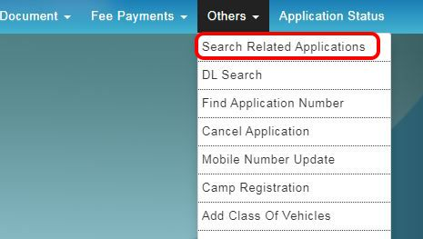 Search Related Applications select kare