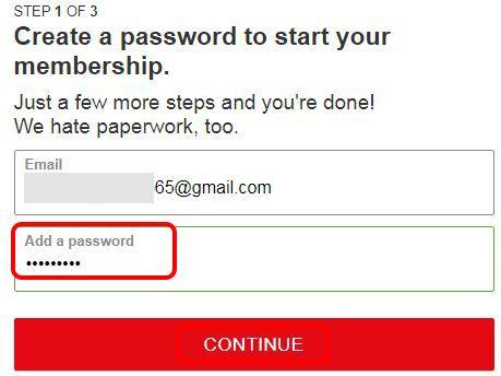 password create kare