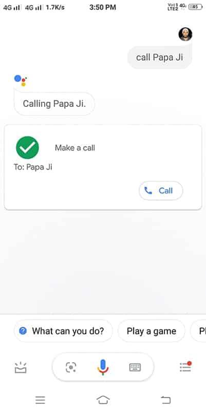 google se call karne ko kahe