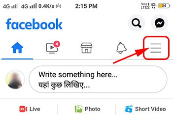 click on facebook menu