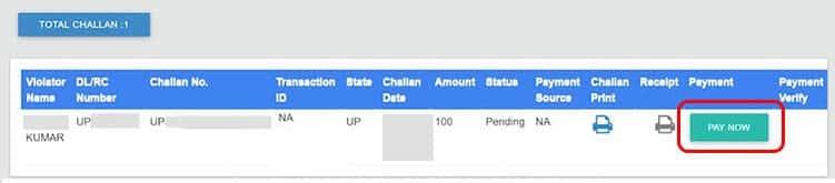 E-Challan Payment Online Kiase Kare