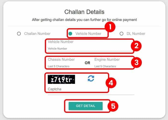 Get Challan Details